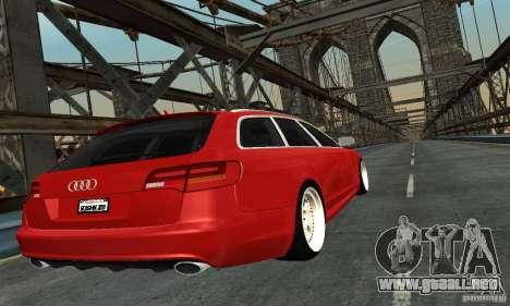 Audi A6 Avant Stanced para GTA San Andreas left