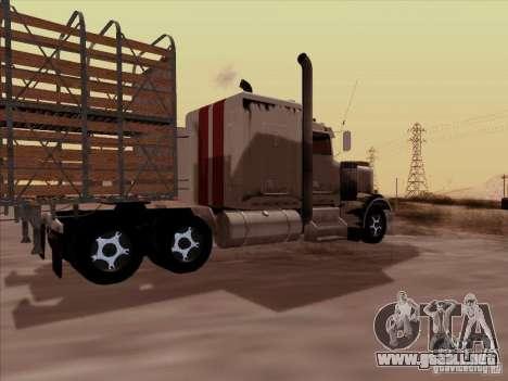 Kenworth W 900 RoadTrain para la visión correcta GTA San Andreas