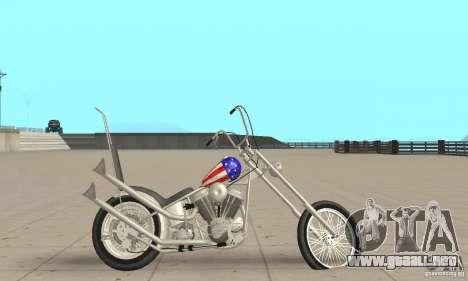 Captain America Chopper para GTA San Andreas vista posterior izquierda