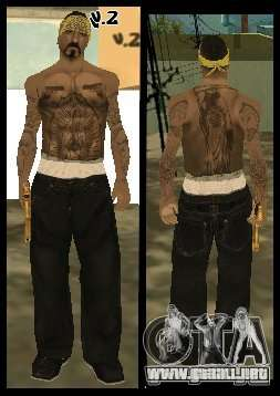 Vagos Gang Skins para GTA San Andreas décimo de pantalla