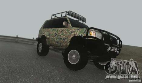 Toyota Land Cruiser 100 Off Road para GTA San Andreas left