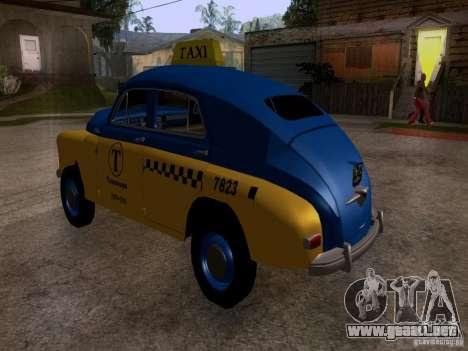 GAZ M20 Pobeda Taxi para GTA San Andreas left