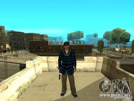 Varrios Los Aztecas Gang Skins para GTA San Andreas tercera pantalla