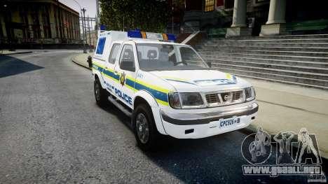 Nissan Frontier Essex Police Unit para GTA 4 vista hacia atrás