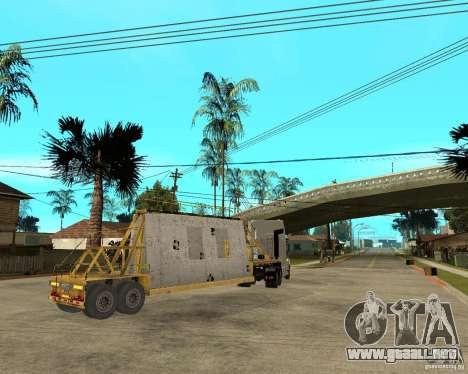 Parche acoplado v_1 para GTA San Andreas vista hacia atrás