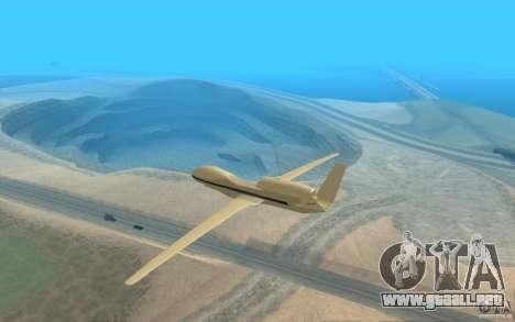 Grumman RQ-4 para GTA San Andreas vista posterior izquierda