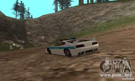 Jester Russian Police para GTA San Andreas vista posterior izquierda