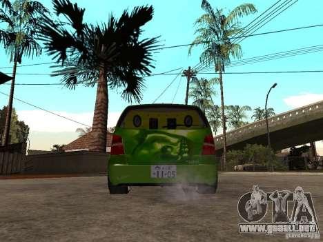 Volkswagen Touran The Hulk para GTA San Andreas vista posterior izquierda