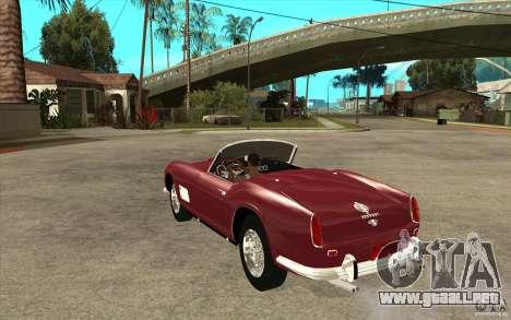 Ferrari 250 California 1957 para GTA San Andreas vista posterior izquierda