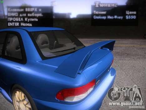 Subaru Impreza 22b Tunable para el motor de GTA San Andreas