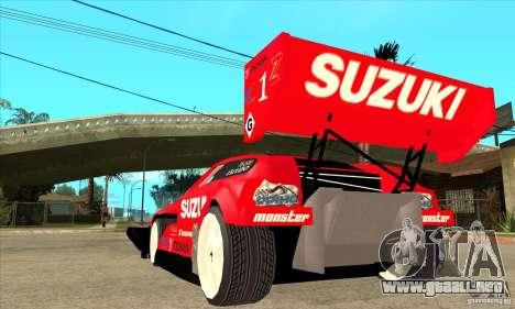 Suzuki Escudo Pikes Peak V2.0 para GTA San Andreas vista posterior izquierda