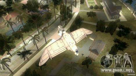 The Valley Gunship para GTA Vice City vista lateral izquierdo