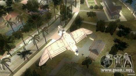 The Valley Gunship para GTA Vice City vista lateral izquierdo