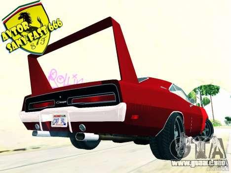 Dodge cargador Daytona Stissimotori 6 para GTA San Andreas left