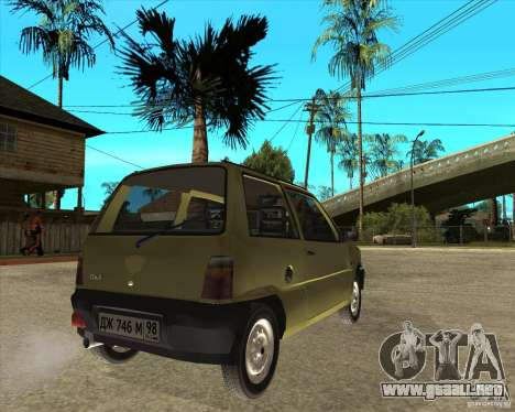 OKA 1111 Kamaz para GTA San Andreas vista posterior izquierda