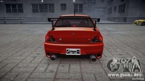 Mitsubishi Lancer Evolution 8 v2.0 para GTA 4 Vista posterior izquierda