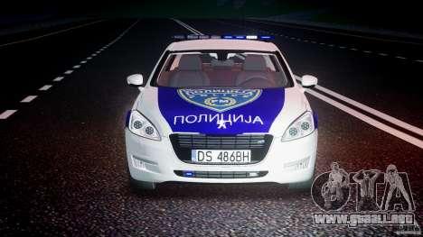 Peugeot 508 Macedonian Police [ELS] para GTA 4 vista desde abajo