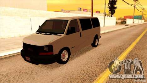 GMC Savanna 2500 para GTA San Andreas left