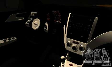 Subaru Impreza WRX STi 2011 TAXI para GTA San Andreas vista hacia atrás