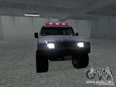 NOOSE Patriot de GTA 4 para GTA San Andreas vista posterior izquierda