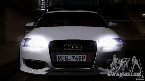 Audi S3 Euro para visión interna GTA San Andreas