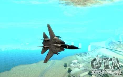 F-14A Screaming Eagles VF-51 para GTA San Andreas vista hacia atrás