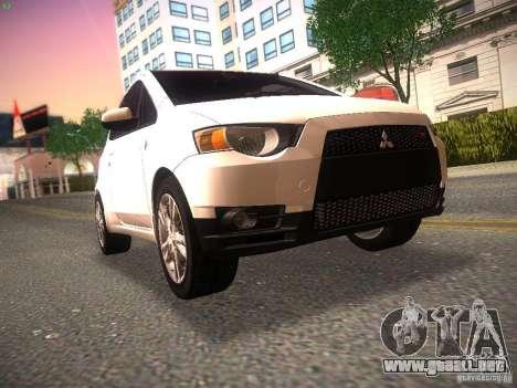 Mitsubishi Colt Rallyart para GTA San Andreas left
