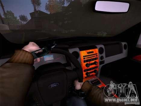 Ford Raptor Police para la vista superior GTA San Andreas