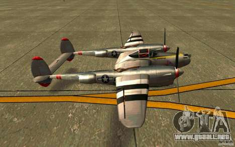 P38 Lightning para GTA San Andreas left