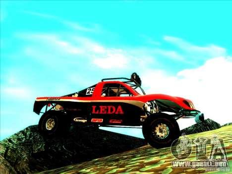 Toyota Tundra Rally para vista lateral GTA San Andreas