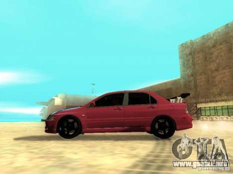 Mitsubishi Lancer IX MR para GTA San Andreas left