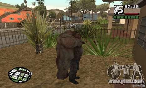 Tanque del Left 4 Dead para GTA San Andreas tercera pantalla