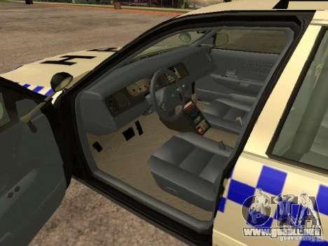 Ford Crown Victoria NSW Police para GTA San Andreas vista posterior izquierda