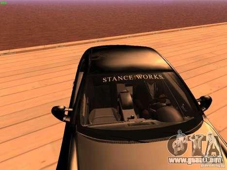 Infiniti G35 V.I.P para visión interna GTA San Andreas
