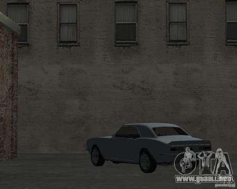 Chevrolet Camaro SS para GTA San Andreas vista posterior izquierda