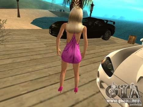 Mia Pinky para GTA San Andreas segunda pantalla