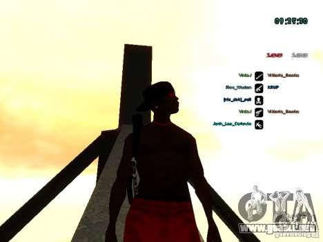 Mochila-paracaídas para GTA: SA para GTA San Andreas sucesivamente de pantalla