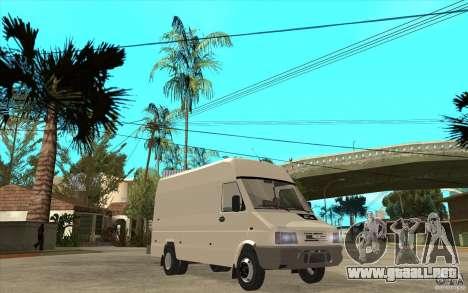 Iveco Turbo Daily para GTA San Andreas vista hacia atrás