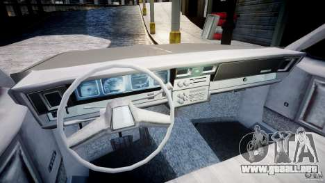 Chevrolet Impala 1983 para GTA 4 vista hacia atrás