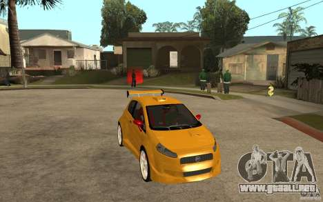 Fiat Grande Punto Tuning para GTA San Andreas vista hacia atrás