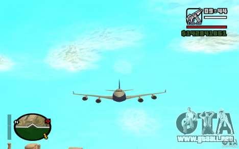 Boeing 747 serie 8 para la visión correcta GTA San Andreas