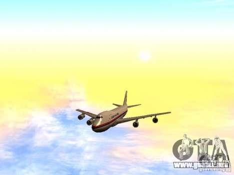 Boeing 747-100 Japan Airlines para la vista superior GTA San Andreas