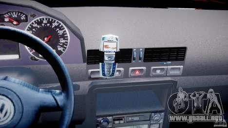 Volkswagen Bora para GTA 4 vista desde abajo
