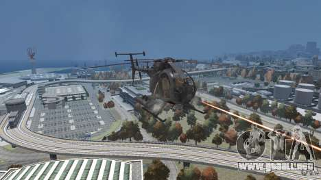 New AH-6 Little Bird para GTA 4 vista hacia atrás