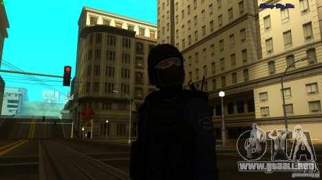 SWAT Officer para GTA San Andreas segunda pantalla