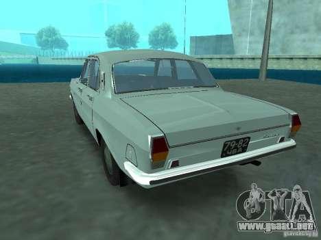 GAS 24p para GTA San Andreas vista posterior izquierda