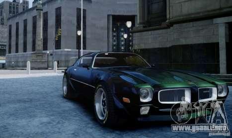 Pontiac Firebird 1971 para GTA 4 Vista posterior izquierda