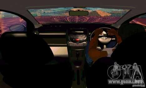 Toyota Aygo V1.0 para la vista superior GTA San Andreas