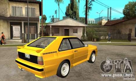 Audi SportQuattro 1983 para la visión correcta GTA San Andreas