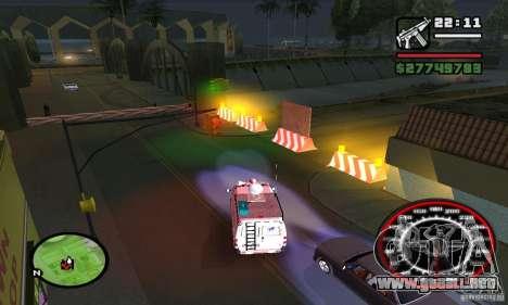Base GROOVE Street para GTA San Andreas sucesivamente de pantalla
